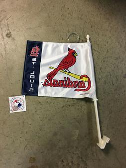 NEW SET OF 2 ST. LOUIS CARDINALS CAR AUTO FLAG GREAT FOR THE