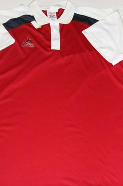 Men's new ST LOUIS CARDINALS Golf Polo Shirt 2XL 26.5 x 31