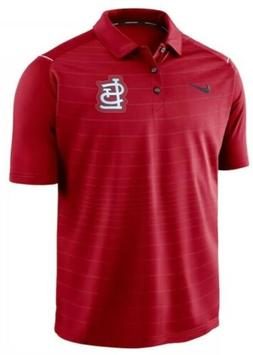 Nike Men's St Louis Cardinals Stripe Polo Jersey Shirt Med