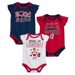 Outerstuff MLB Baseball Infants St. Louis Cardinals 3 pack C