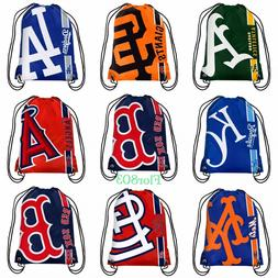 MLB Baseball Team Drawstring backpack / Gym bag