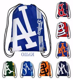 MLB Baseball Team Drawstring backpack Sack / Gym bag