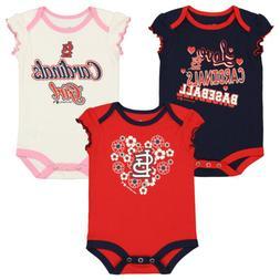 Outerstuff MLB Infant Girls St. Louis Cardinals Player 3 Pac