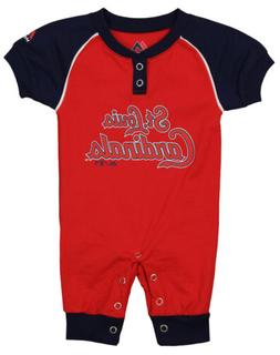 """Majestic MLB Infant St. Louis Cardinals """"Game Time"""" Coverall"""