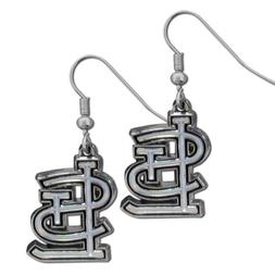 MLB St. Louis Cardinals Chrome Dangle Earrings