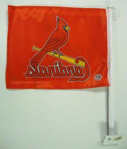 MLB:ST. LOUIS CARDINALS  11 X 14 WINDOW MOUNTED CAR FLAG - 2