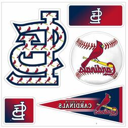 "MLB St. Louis Cardinals ""5-Piece"" 3D Multi-Magnets Baseball"
