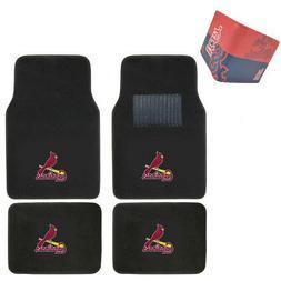 MLB St. Louis Cardinals Car Truck Carpet Floor Mats & Synthe
