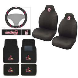 MLB St. Louis Cardinals Car Truck Seat Covers Floor Mats Ste