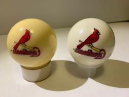 MLB St Louis Cardinals Collector White Billiard Balls