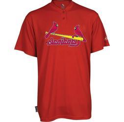 MLB St. Louis Cardinals Majestic Men's Cool Base 2 Button Re