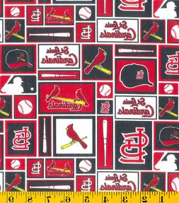 MLB ST LOUIS CARDINALS PATCH PRINT 100% COTTON FABRIC BY THE