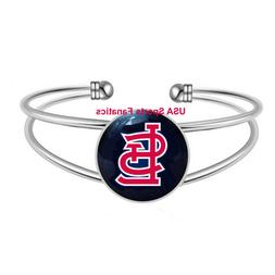 MLB - St. Louis Cardinals Team Logo Adjustable Bangle Bracel