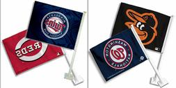 MLB Team Logo Car Window Flag Made By Fremont Die -Select- T