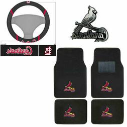 New 6pc MLB St. Louis Cardinals Car Truck Floor Mats Steerin