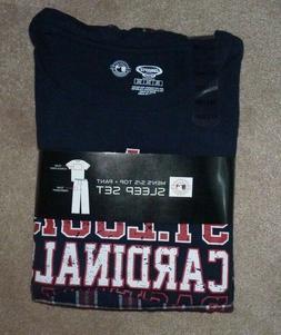 NEW MLB St Louis Cardinals Sleepwear T Shirt Flannel Pants L
