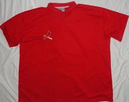 NEW! Majestic St. Louis Cardinals Polo Shirt Mens Big & Tall