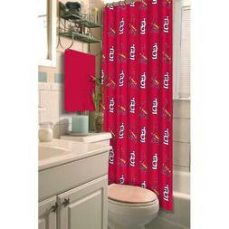 NEW St. Louis Cardinals Shower Curtain MLB Fabric Bathroom L