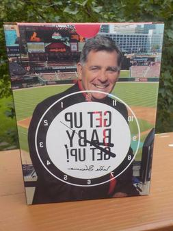 NIB St Louis Cardinals Mike Shannon Talking Alarm Clock 8-27