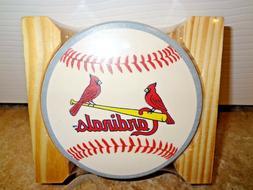NIP St Louis Cardinals Coaster Set of 4 Logos Busch Stadium