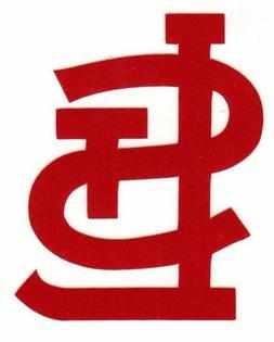 REFLECTIVE St. Louis Cardinals 2 inch fire helmet decal stic