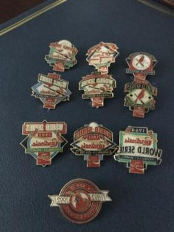 Set of 1992 St Louis Cardinals SGA World Series Champ Pins C