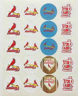 """SET of 20- 2"""" ST. LOUIS CARDINALS ADHESIVE STICKERS.Make Cup"""