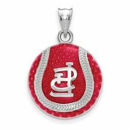 SS MLB  St. Louis Cardinals Enl Baseball Pendant