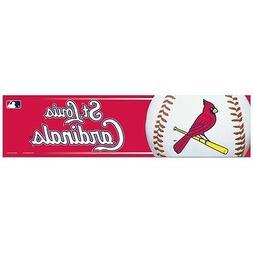 ST. LOUIS CARDINALS ~  MLB 3x12 Self Adhesive Bumper Sticker