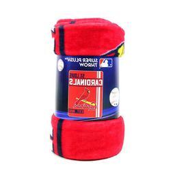 ST. LOUIS CARDINALS ~  MLB 50x60 Super Plush Fleece Throw Bl