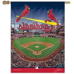 ST. LOUIS CARDINALS ~  Official MLB Outdoor House Flag Banne