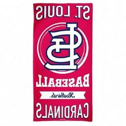 """ST LOUIS CARDINALS 100% COTTON 30"""" X 60"""" BEACH TOWEL FROM WI"""