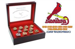 St. Louis Cardinals 11 World Series Championship Ring Set Di