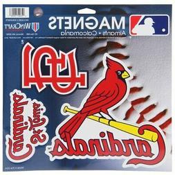 "St. Louis Cardinals WinCraft 11"" X 11"" 3pk Car Magnets"