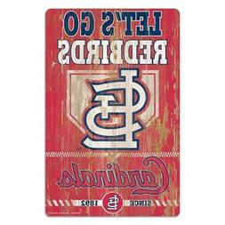 "St Louis Cardinals 11""x17"" Wood Sign Slogan Design  MLB Wall"