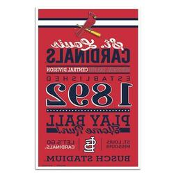"St Louis Cardinals 11""x17"" Wood Sign Established Design  MLB"