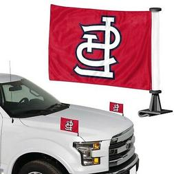 St Louis Cardinals 2-Pack Ambassador Style Auto Flag Car Ban
