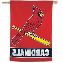 "ST. LOUIS CARDINALS 28""X40"" HOUSE FLAG OR WALL BANNER MLB LI"
