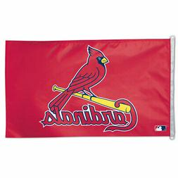 ST. LOUIS CARDINALS 3'X5' HOUSE FLAG WALL BANNER MLB LICENSE