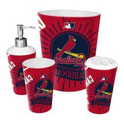 St. Louis Cardinals 4-Piece Bath Set OFFICIAL MLB