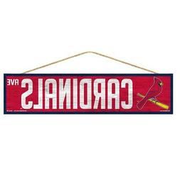 "St Louis Cardinals 4""x17"" Wood Sign Avenue Design  MLB Stree"