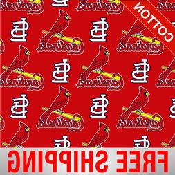 St. Louis Cardinals Allovers MLB Cotton Fabric - Style# 6653