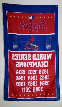 St Louis Cardinals Banner 3x5 Ft Flag World Series Man Cave