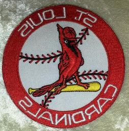 "St. Louis Cardinals Baseball 3.5"" Iron /Sew On Embroidered P"