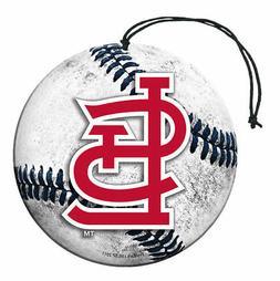 St. Louis Cardinals Baseball Air Freshener Vanilla Scent 3 P