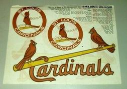 St. Louis Cardinals Baseball Iron On Emblems Vintage 1980's?