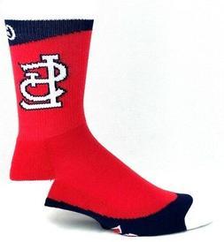 St. Louis Cardinals Baseball Red Crew Socks White Navy Strip