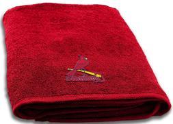 St. Louis Cardinals Bath Towel measures 25 x 50 inches