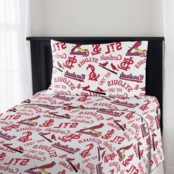 St. Louis Cardinals Bed Sheet Set Timeline Baseball League B