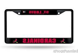 St Louis Cardinals BLACK Chrome License Plate Frame 3D Metal